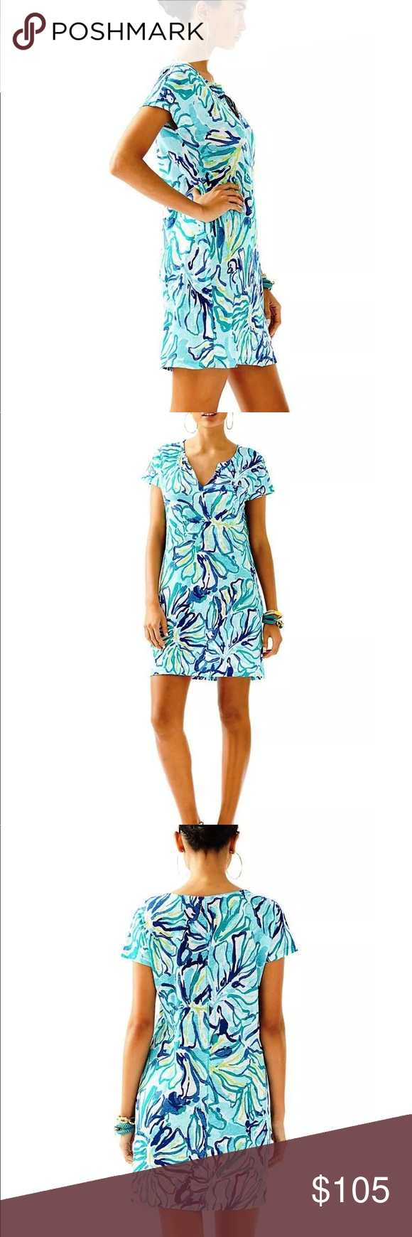 bcbb3d87966 Lilly Pulitzer Duval Linen Dress Pool Blue The Duval Dress is the ultimate  t-shirt
