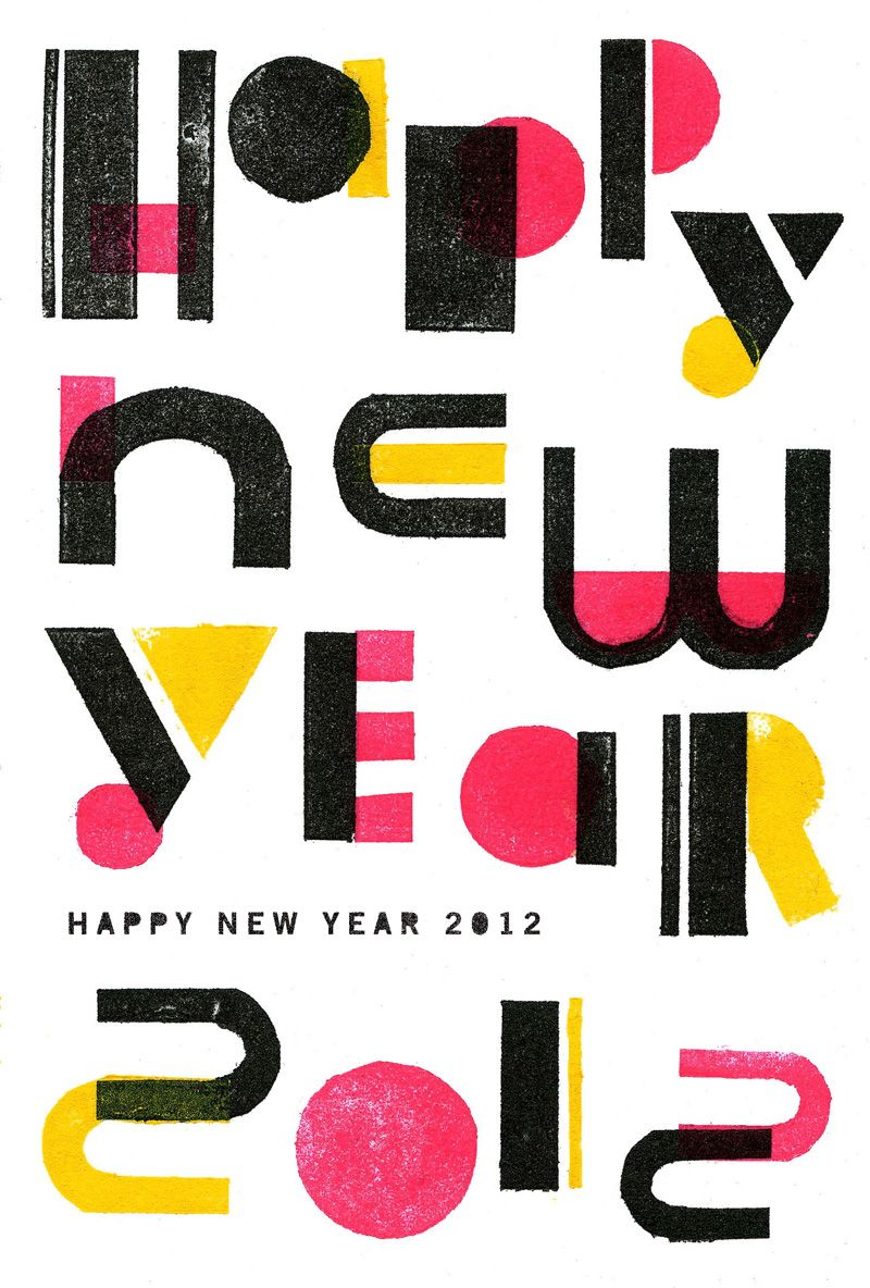 Mdn Designers New Year Card Graphic Typography Graphitica Inc