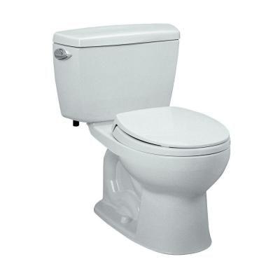 TOTO Drake 2Piece 1.6 GPF Single Flush Round Toilet in