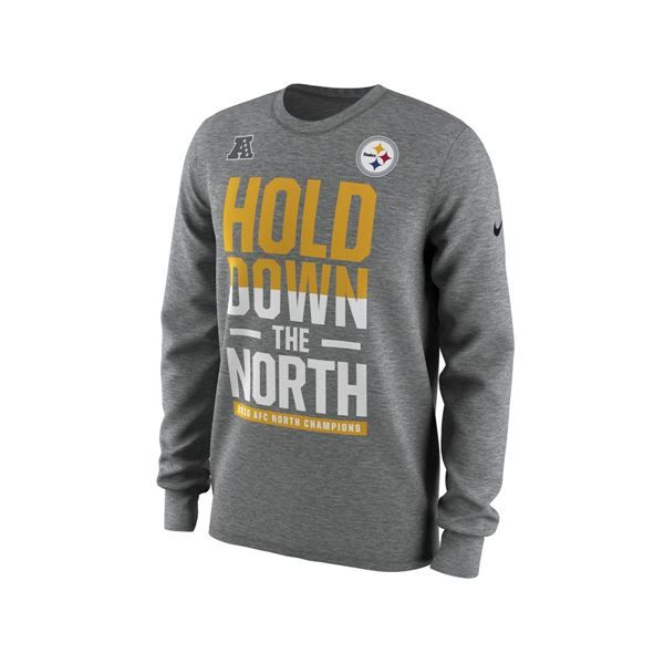 Picture of Pittsburgh Steelers Nike 2016 AFC North Division Championship  Long Sleeve T-Shirt 4b360eef5