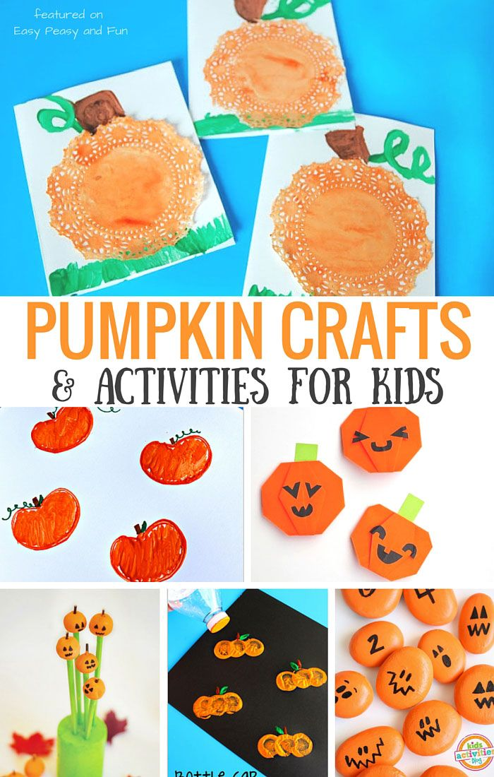 Pumpkin Crafts and Activities for Kids Activities, Easy peasy and - easy homemade halloween decorations for kids