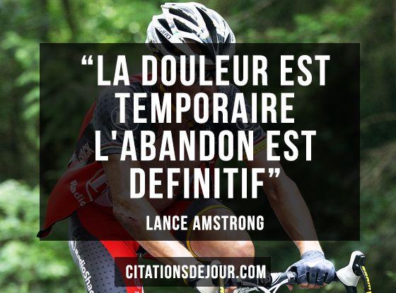 Citation De Lance Amstrong Sur L Esprit Du Sportif La