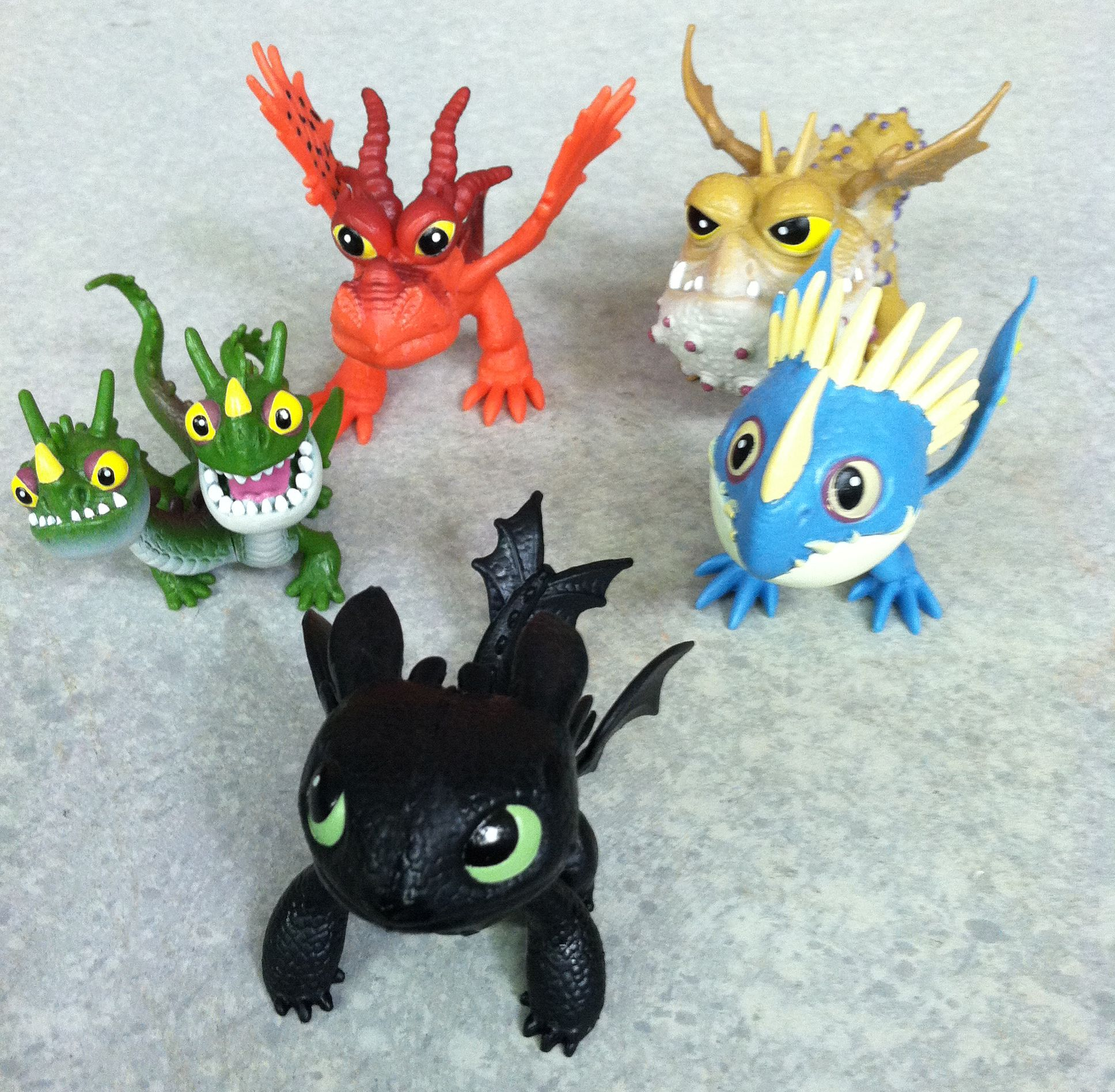 Group Shot Of Our Friends Toothless, Meatlug, Stormfly,