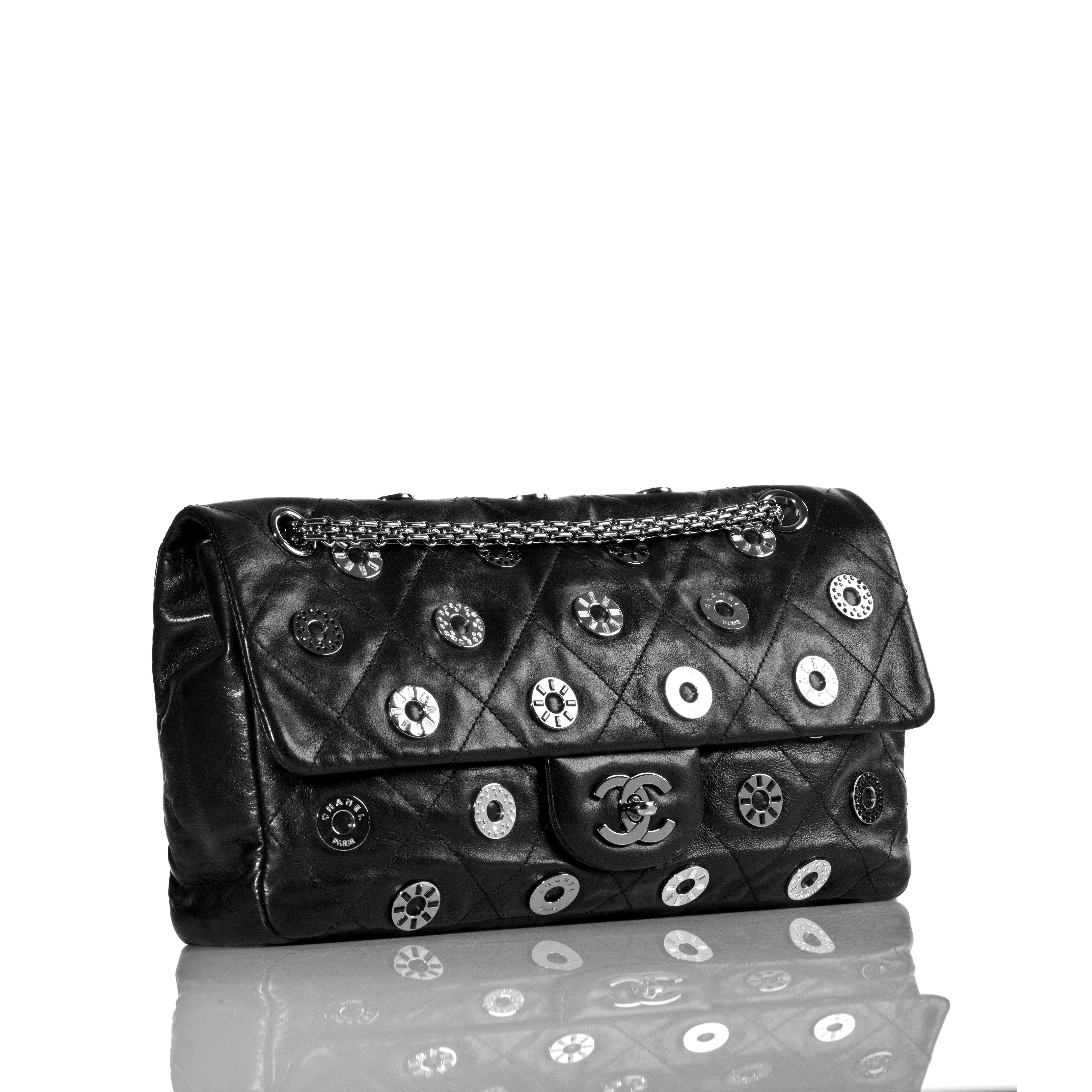 Chanel handbag superb vintage chanel bag vintage leather - Chanel Limited Edition Flap Bag With Swarovski Crystal Accents