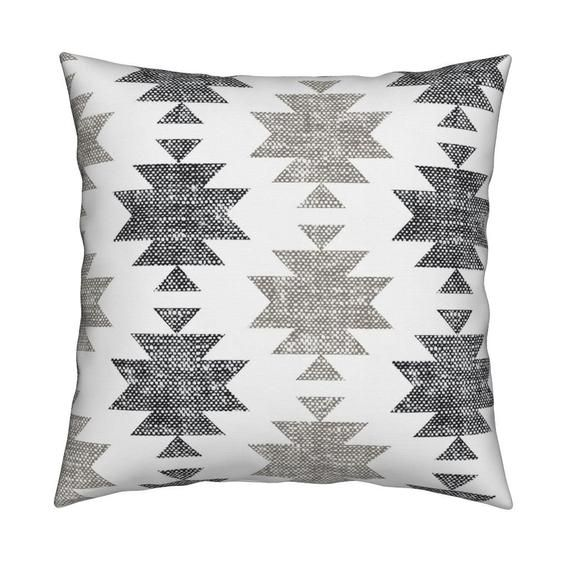 Boho Geometric Throw Pillow Southwestern By Littlearrowdesign Tribal Inspired Weathered Look 18 X18 Square Throw Pillow By Spoonflower In 2020 Geometric Throws Throw Pillows Modern Decorative Pillows