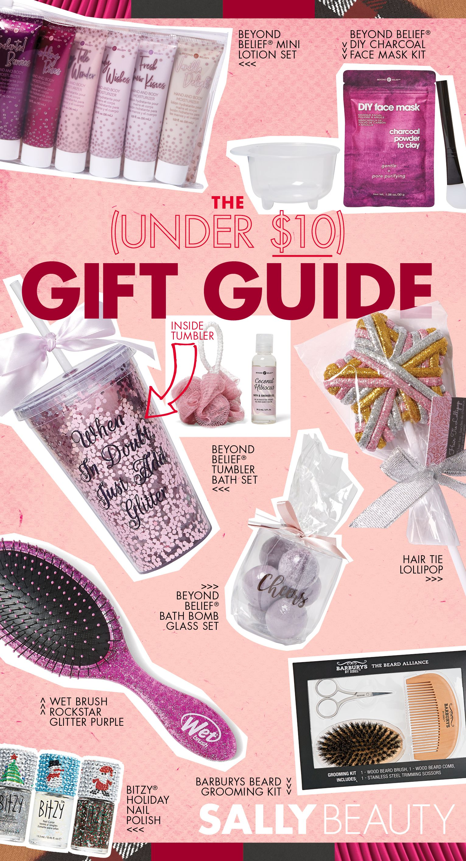 The Sally Beauty Holiday Guide Gifts Under 10 Beauty Christmas Gift Sally Beauty