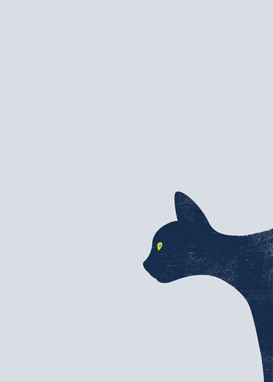 Image of Blue Cat A5 print
