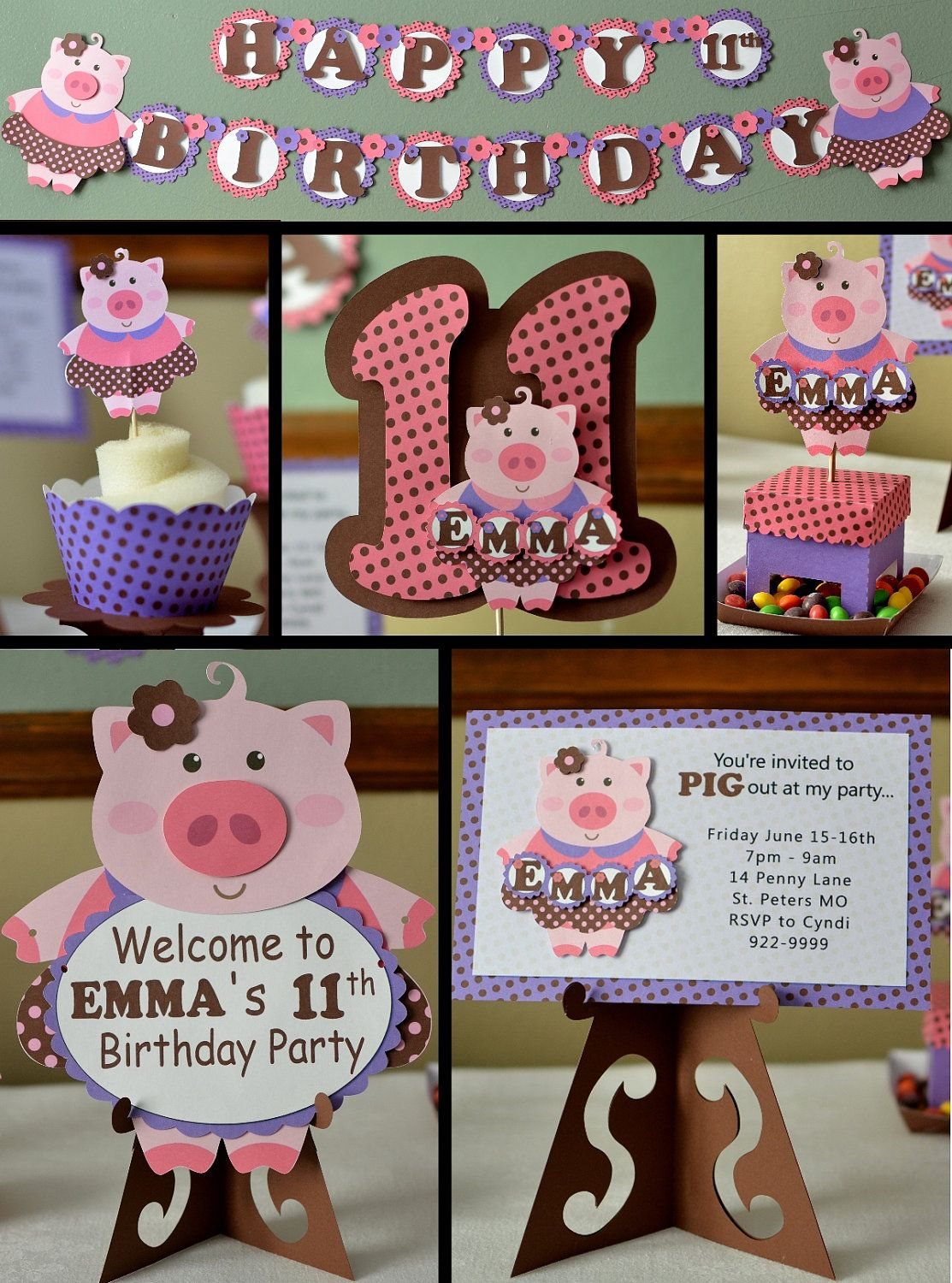 Pig in a Dress Birthday Party Package #pig #birthday #party