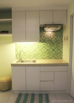 Image Result For Studio 20 Sqm Interior Condominium Interior Design Condo Interior Design Small Interior Design Kitchen
