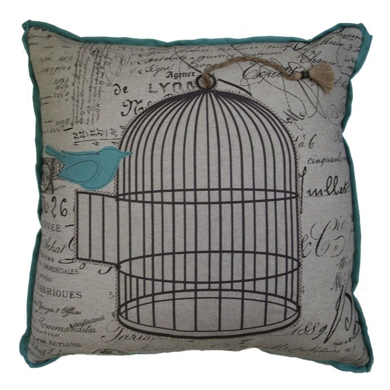 Lacefield Designs // Peacock Bird Cage Pillow