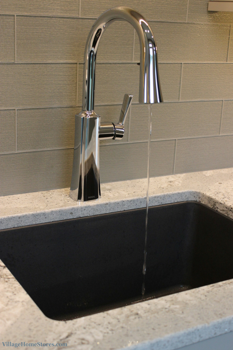 Best Elkay Dusk Gray Undermount Sink On Cambria Summerhill 640 x 480