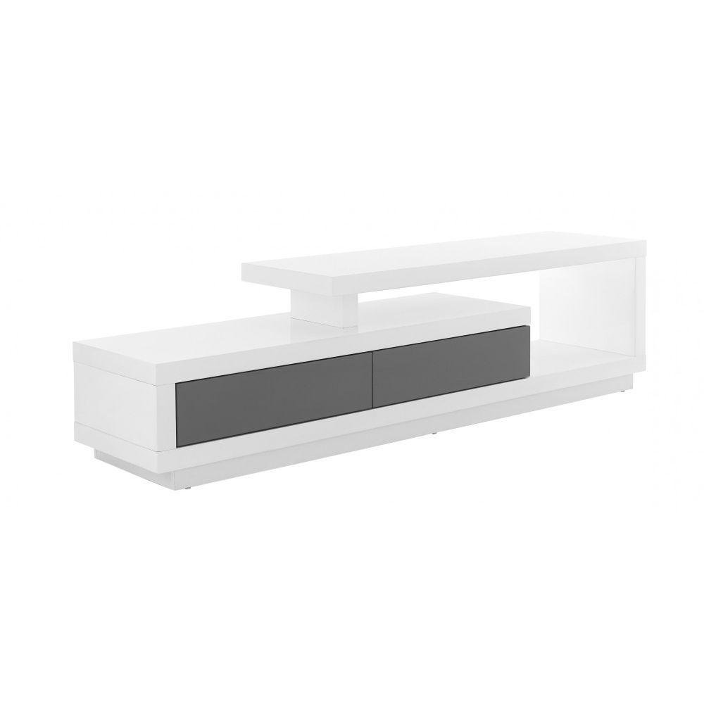Timeo Meuble Tv Hifi Blanc Gris 299 Idee X La Casa Pinterest  # Meuble Tv Hi Fi