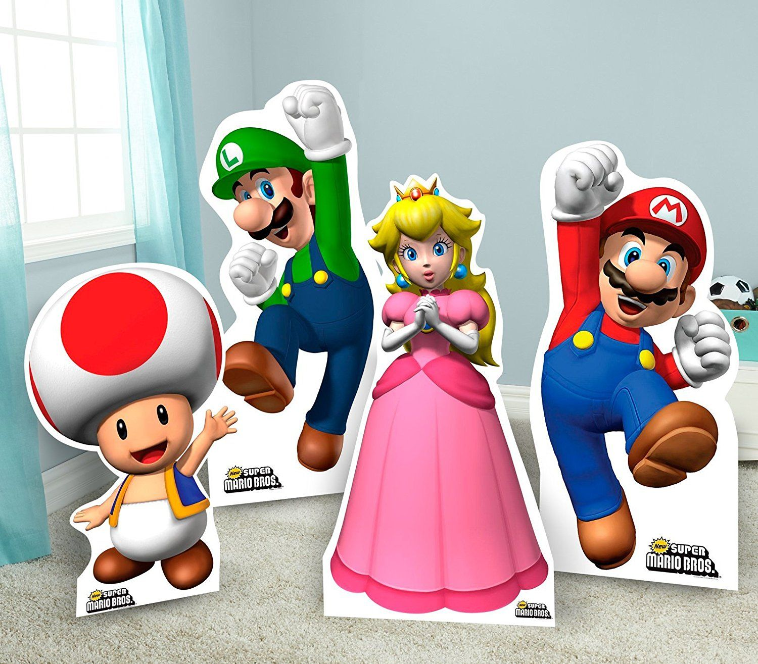 Super Mario Bros Room Decor Life Size Cardboard Standup Combo Kit