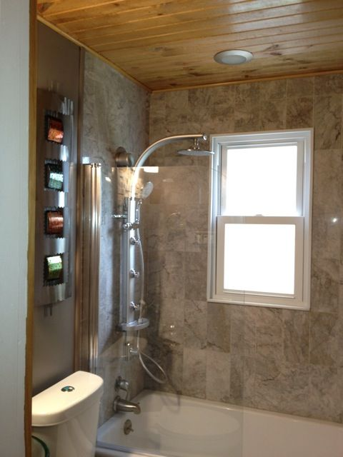 Tongue And Groove Ceiling Home Bath Remodel Bathrooms