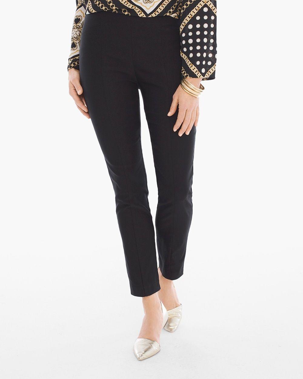 ff5945739028 Chico's Women's So Slimming Brigitte Ankle Pants, Black, Size: 4 (20 - XXL)  REG