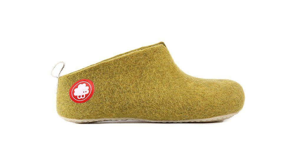 dc803c5a2 Gus Khaki Green Side Baabuk Slippers | The Gus Slipper | Slippers ...