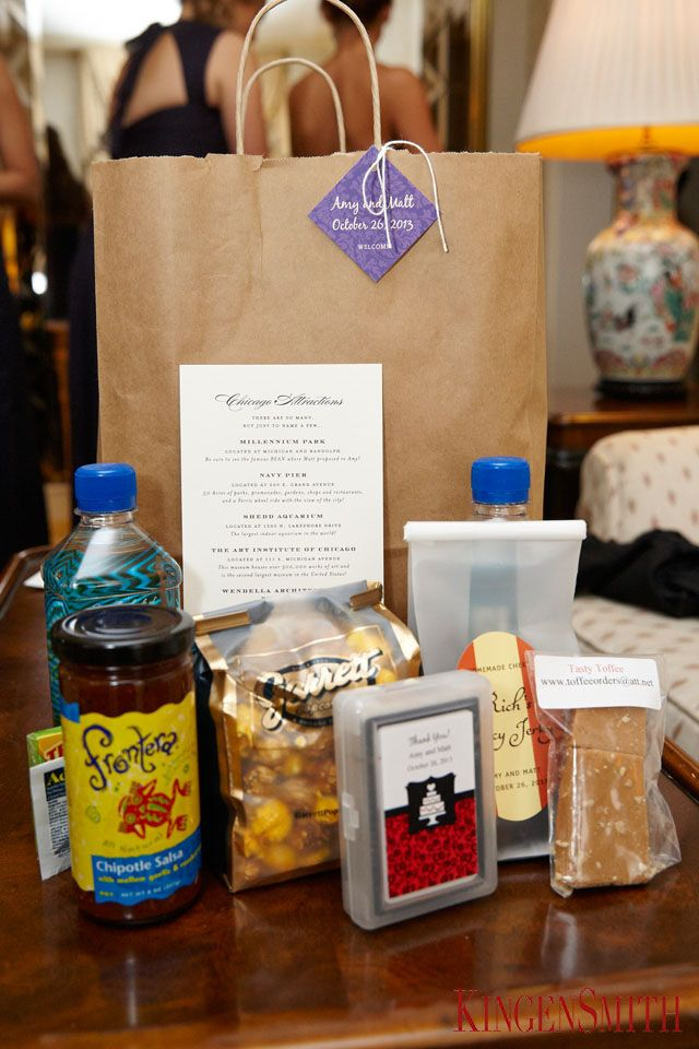 Amazing Chicago Themed Welcome Gift Bags Weddings Blisschicago Chitown Clics
