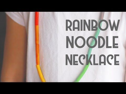 Coloring Pasta & Making Necklaces | Craft
