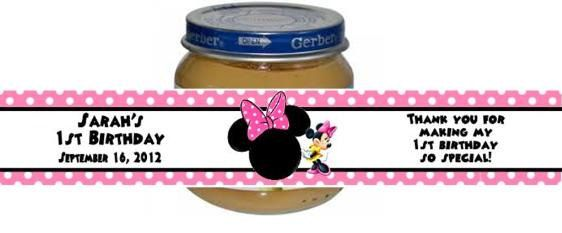 personalized custom photo gerber baby food jar labels baby shower or