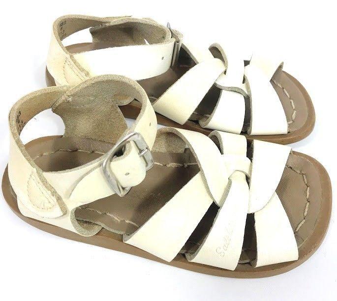 e64a3750be89 Salt Water Toddler Girl Sandals Sun San Hoyway White Leather Original Sz 6  Play  SaltWaterSandals  Sandals