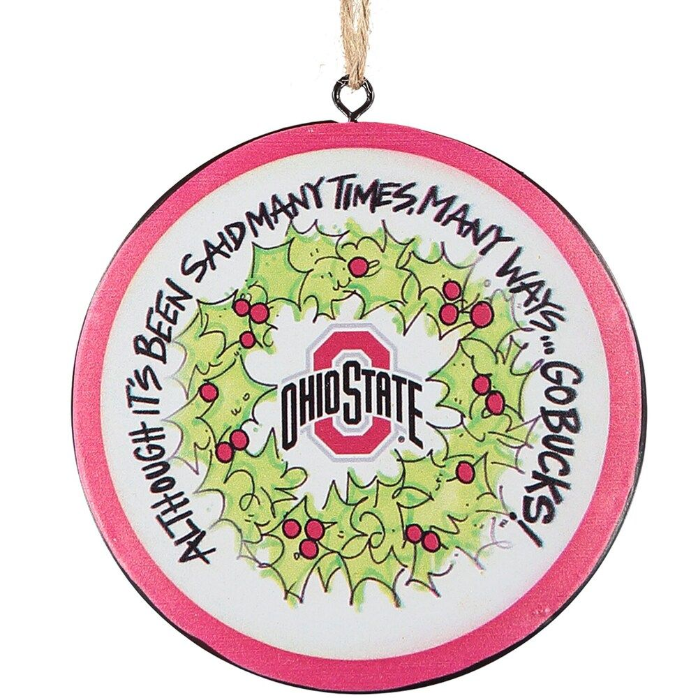 Ohio State Buckeyes Metal Ornament