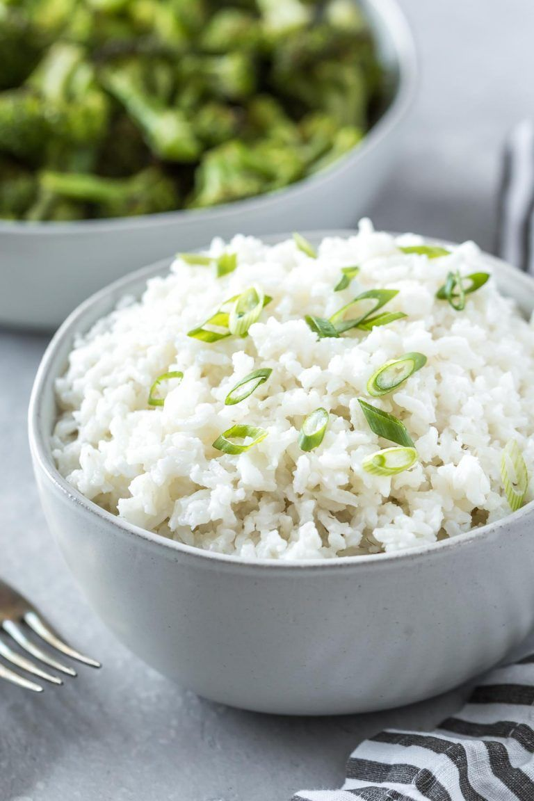 Easy coconut rice recipe creamy rice side dishes
