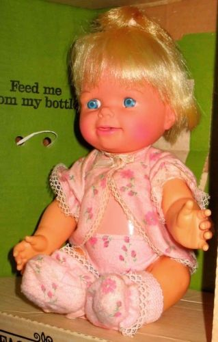 Cheerful Tearful, as a child l didn't know if l wanted her or Tiny Tears for Xmas...Santa decided on Tiny Tears for me.