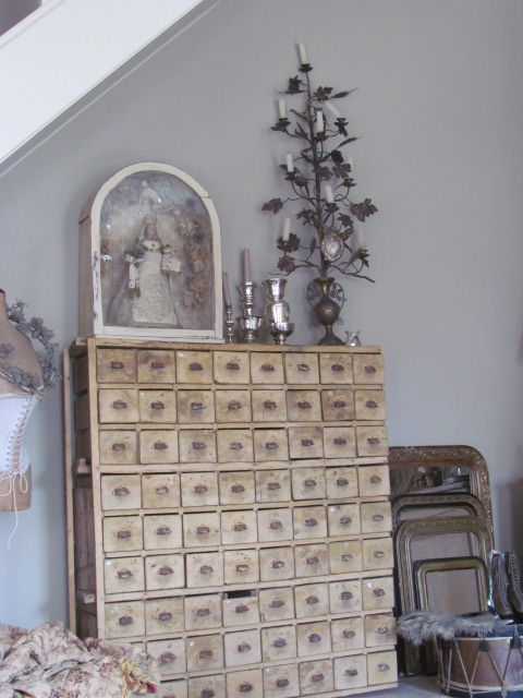 Apothecary Drawers Vintage Home Decor Ideas