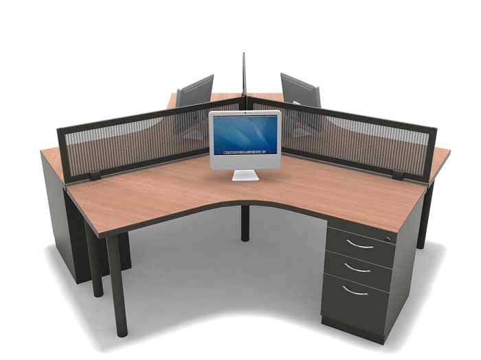 two person desk our 3 person 120 degree desking configuration is a great 29165