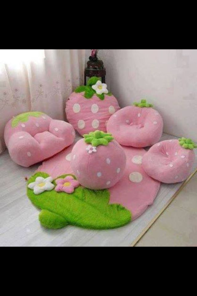 Strawberry Kids Furniture Cute Furniture Kids Room Couch Set