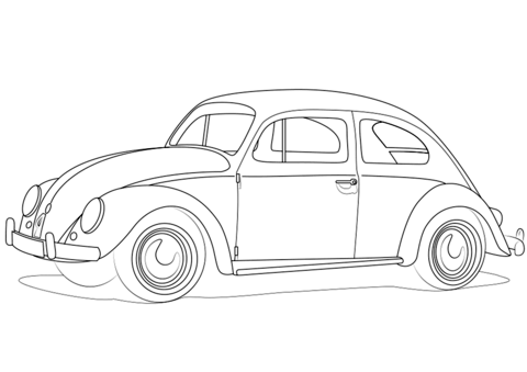 Vw Beetle Coloring Page Coloring Pages Beetle Art Vw Art
