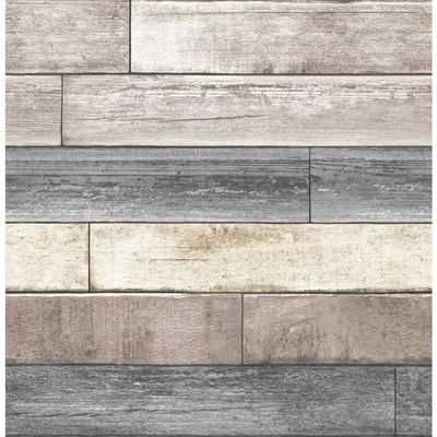 Nuwallpaper Peel And Stick Beige Vinyl Wood Wallpaper Wood Plank Wallpaper Reclaimed Wood Wallpaper Wood Wallpaper