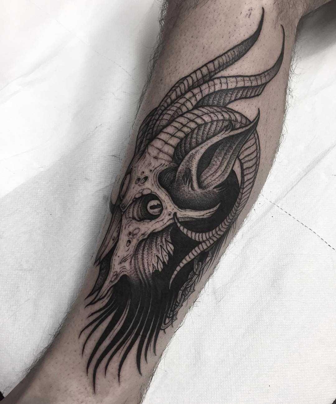 27++ Awesome Skull calf tattoo ideas image HD