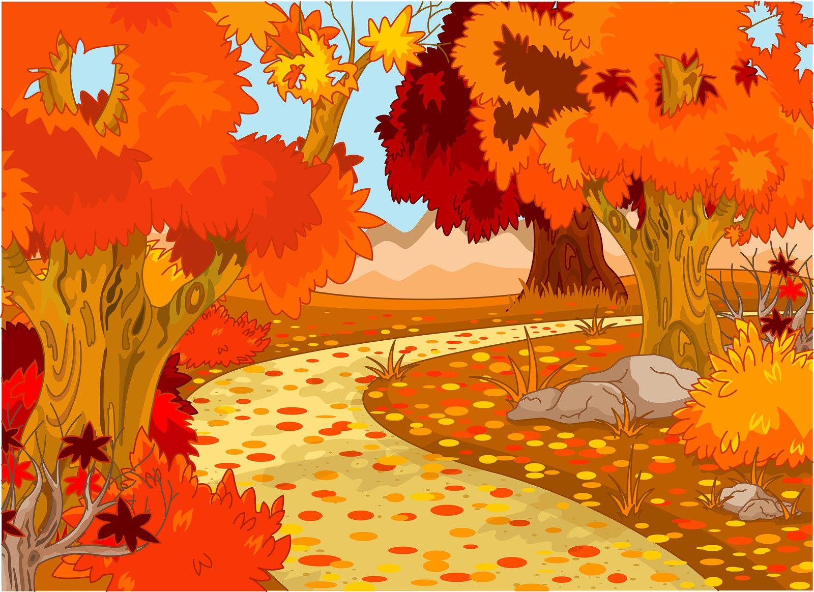 Pin by Muradija Rizvanović on za djecu   Forest landscape, Autumn forest, Landscape illustration