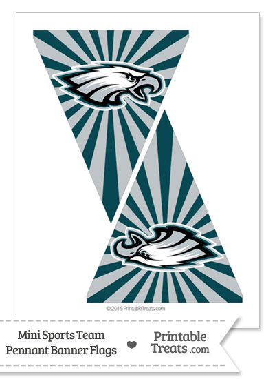 picture relating to Philadelphia Eagles Printable Schedule named Philadelphia Eagles Mini Pennant Banner Flags versus