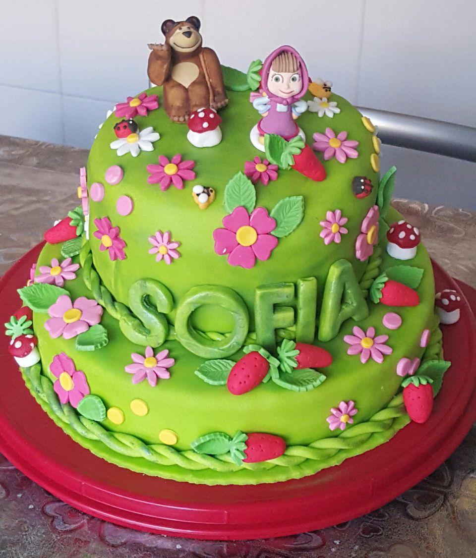 """Amazing Cakes: Torta """"Masha E Orso"""" Decorata Da Contessi Loretta. Scarica"""