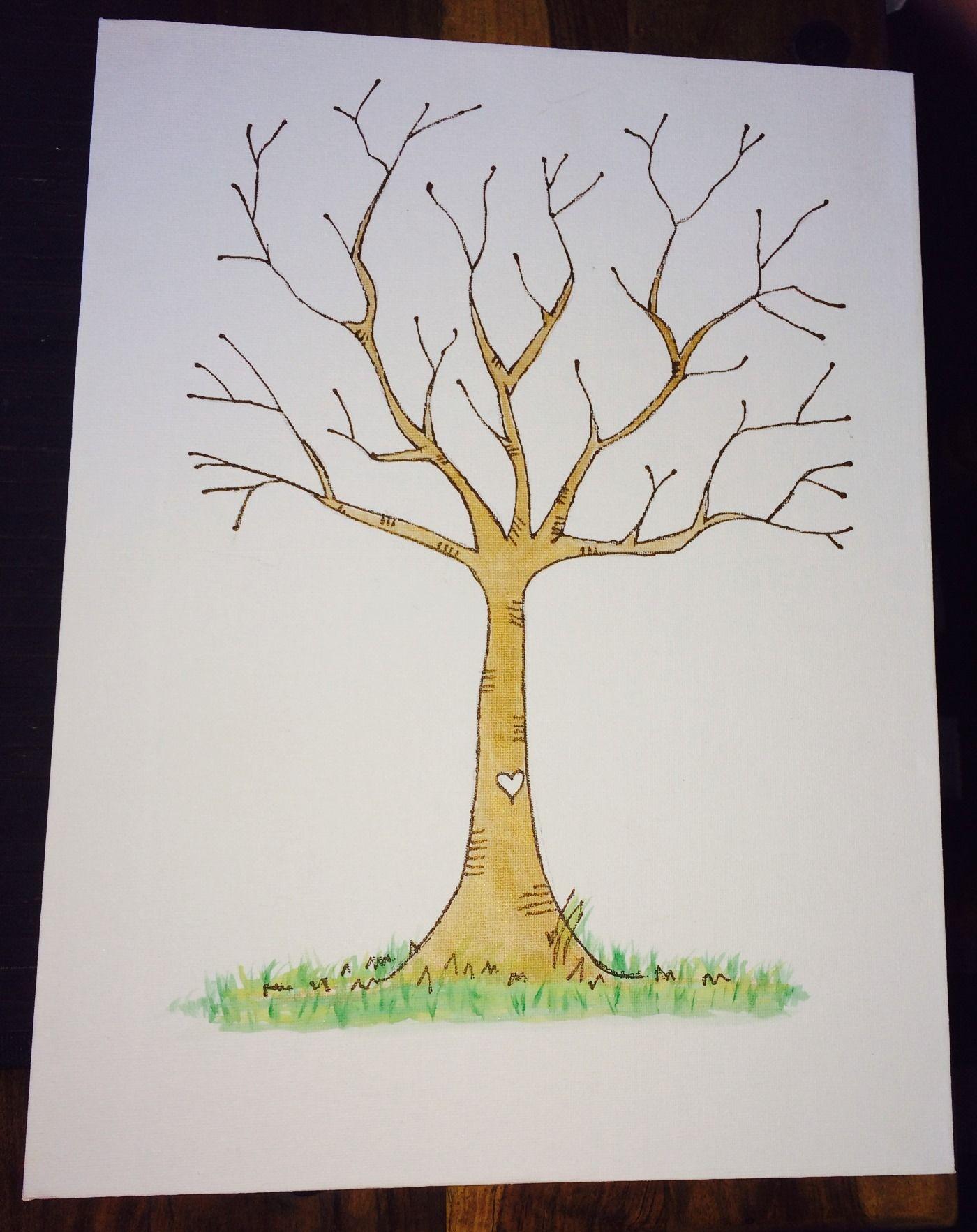 DIY Fingerprint Tree Poster Pink Instant Download by lovliday  |Diy Fingerprint Tree