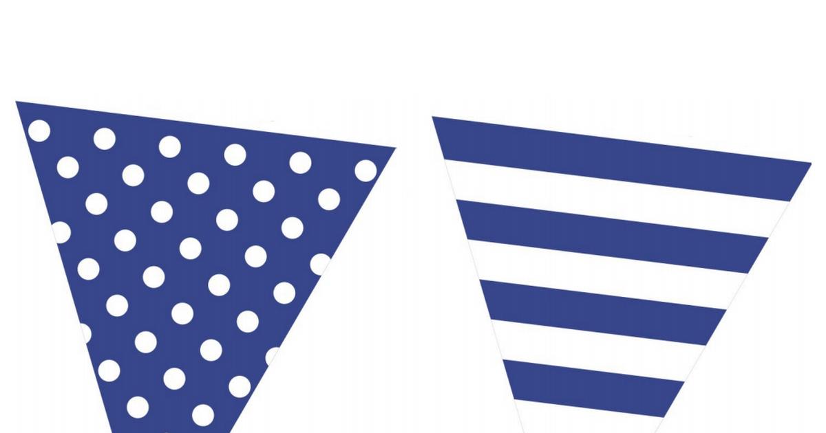 Free Printable Bunting Garland Banner Blue Pdf Free Printable Banner Nautical Banner Flag Printable