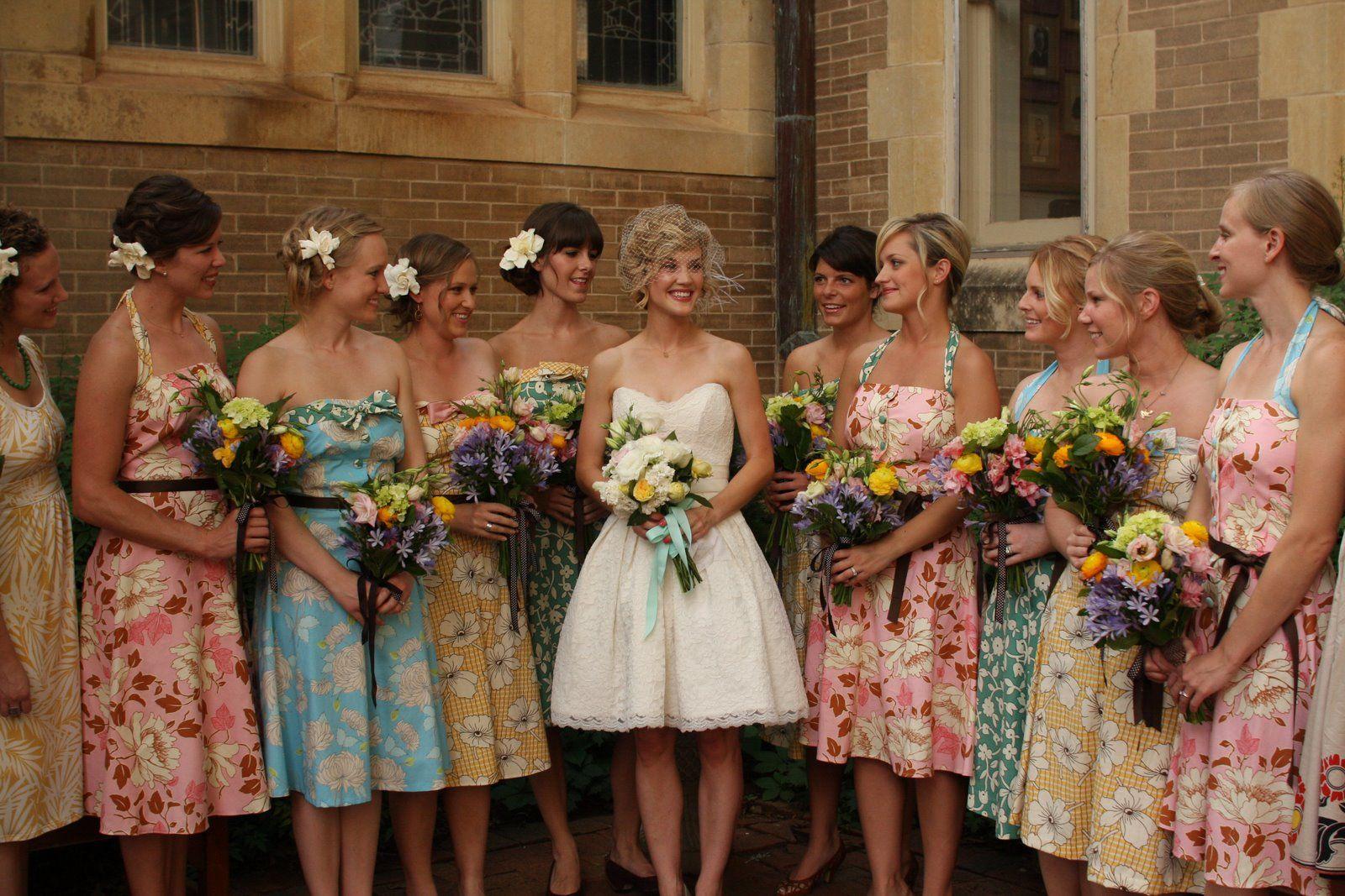 Floral bridesmaids dresses floral bridesmaid dresses wedding and floral bridesmaids dresses glitter inc ombrellifo Gallery