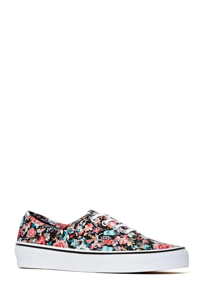 8c68325b7a Vans Authentic Slim Sneaker - Black Floral