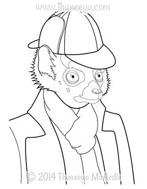 Dapper Animals Lemur Coloring Page By Thaneeya