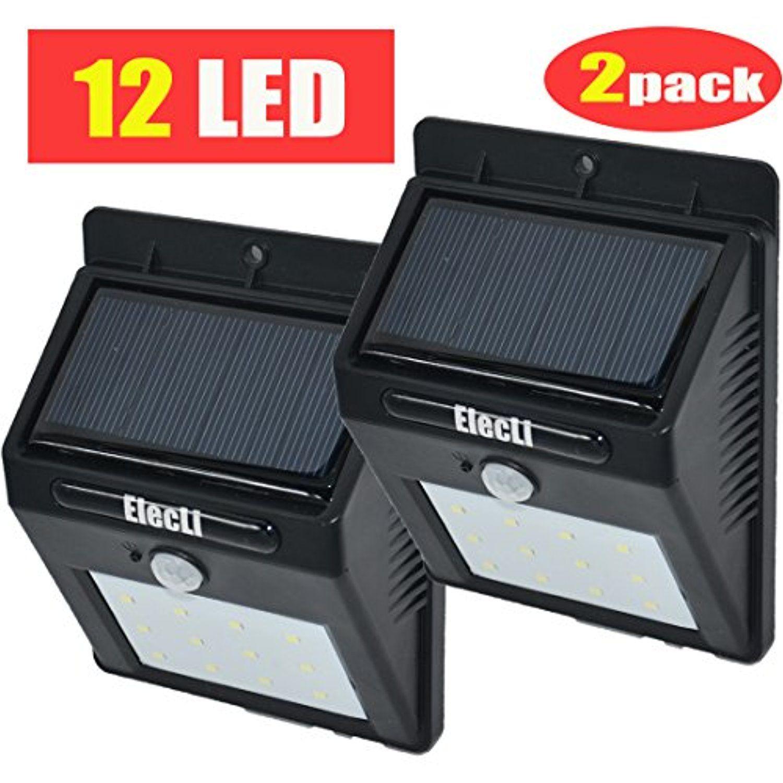 Bright Outdoor Solar Lights Elecli Solar Lights 12 Led Super Bright Outdoor Solar Sensor Powered