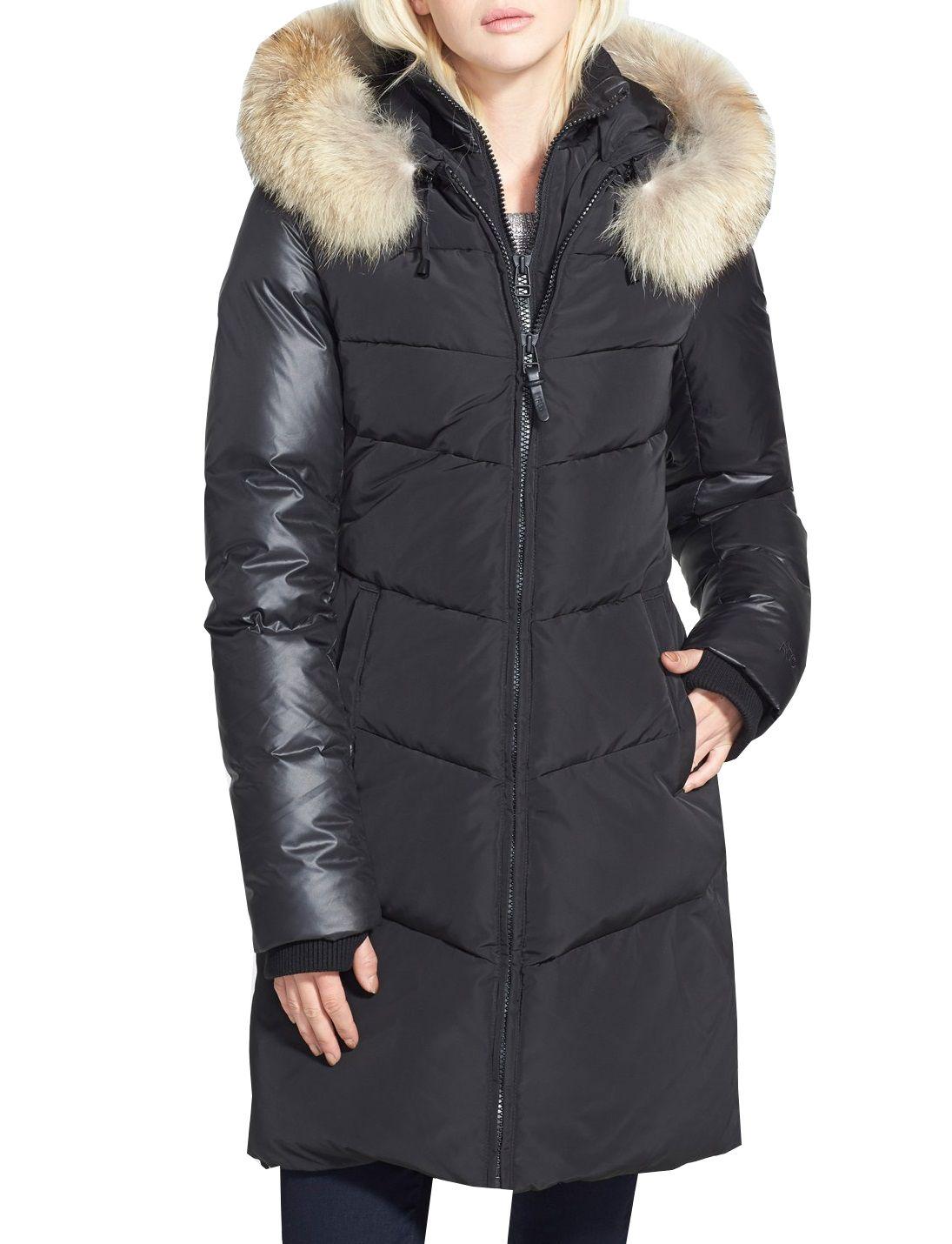 233d9febe RUD BY RUDSAK Mya Black Down Coat | Winter fashion | Fur trim, Down ...