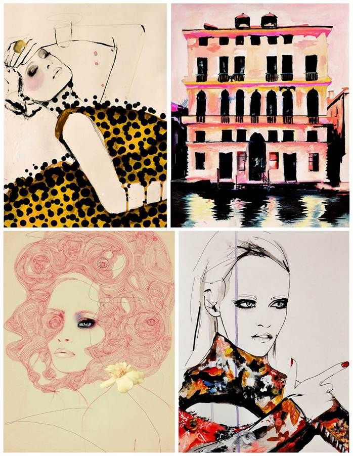 Leigh Viner is a self-taught fashion illustrator who plays freely with the decorative arts of female beauty; she is a make-up artist, a collector of 1950s fashion photographs, and a fashion designer. Viner's witty, beautiful illustrations come out of a rich tradition, from Cecil Beaton's illustrations for Vogue to the digitized designs of Garance Doré. Viner lives and works in Denver.
