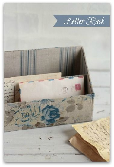 Fabric or Paper Covered Letter Rack