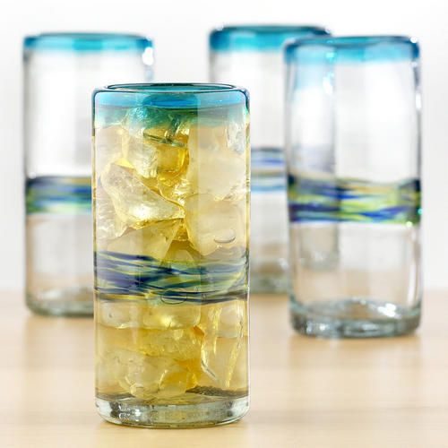 One of my favorite discoveries at WorldMarket.com: Multicolor Rocco Highball Glasses, Set of 4