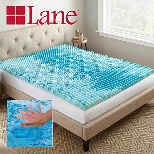 Lane 2 Cooling Gellux Memory Foam Gel Mattress Topper Twin Size