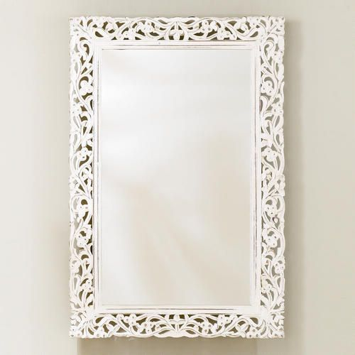 Segovia Whitewashed Mirror Mirror Wall Art White Mirror Frame Mirror