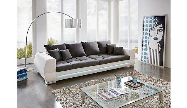 Modernes Big Sofa Mathea Mit Integriertem Soundsystem Und Led Beleuchtung In Vielen Farben Sofa Wohnen Wohnwelt