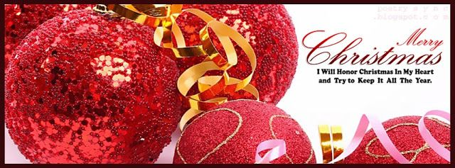 Facebook Cover Red Beautiful Christmas Balls Facebook Timeline with ...